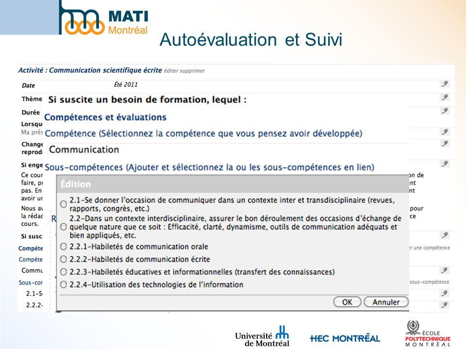 Autoévaluation et Suivi
