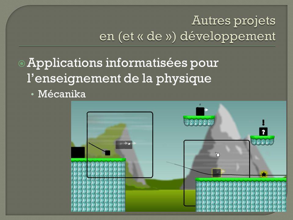 Applications informatisées pour lenseignement de la physique Mécanika