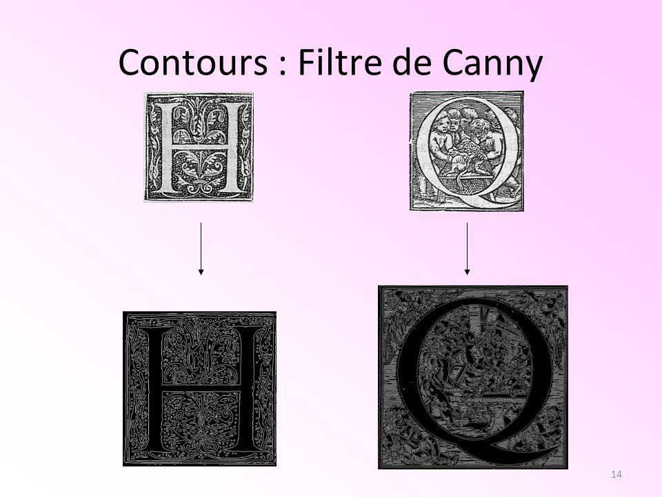 14 Contours : Filtre de Canny