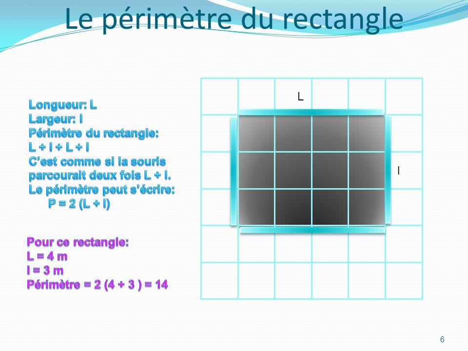 Le périmètre du carré 5 c