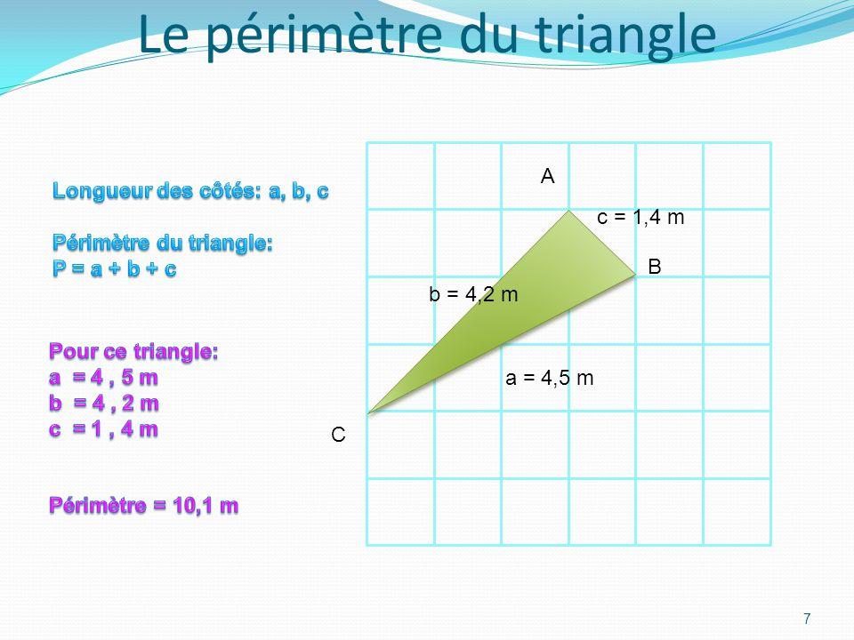 Le périmètre du rectangle 6 L l