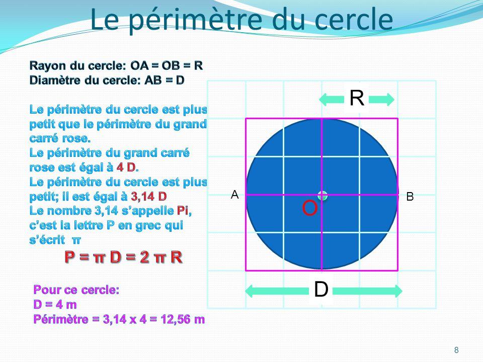 Le périmètre du triangle 7 A B C c = 1,4 m a = 4,5 m b = 4,2 m