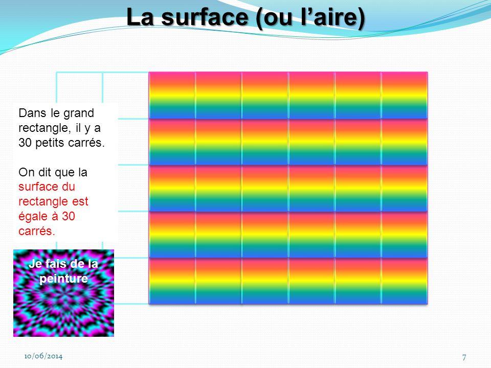 10/06/20146 D = 10 m La biche en chocolat fait le tour du carré. Elle parcourt 4 x 10 = 40 m. Le périmètre du cercle est P = π.D = 2 π.R Le cheval par