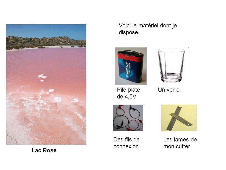Lac Rose Vous devez rédiger un protocole permettant à votre correspondant détudier les conditions de potabilité de leau du lac.
