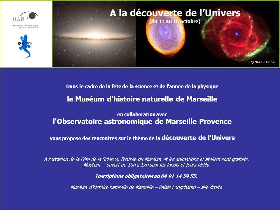 Programme des rencontres 10h0014h0015h3018h30 Mardi 11 octobreLe « Web » cosmique Comment notre Univers est-il organisé .