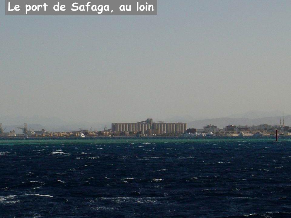 Le port de Safaga, au loin