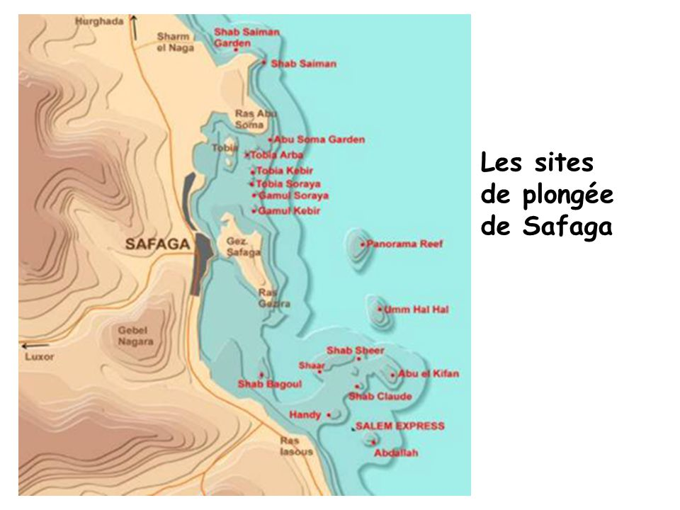 Les sites de plongée de Safaga