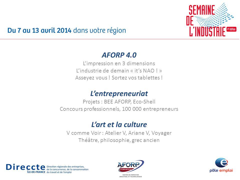 AFORP 4.0 Limpression en 3 dimensions Lindustrie de demain « its NAO .