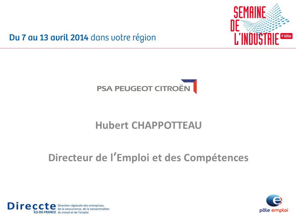 Hubert CHAPPOTTEAU Directeur de lEmploi et des Compétences