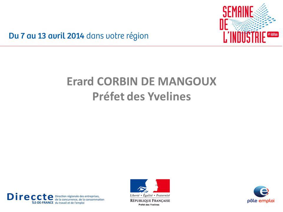 Erard CORBIN DE MANGOUX Préfet des Yvelines