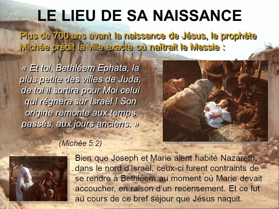 Or, sept siècles et demi plus tard, en Israël, lange Gabriel rendit visite à une jeune fille du nom de Marie, et lui annonça quelle enfanterait un fils.
