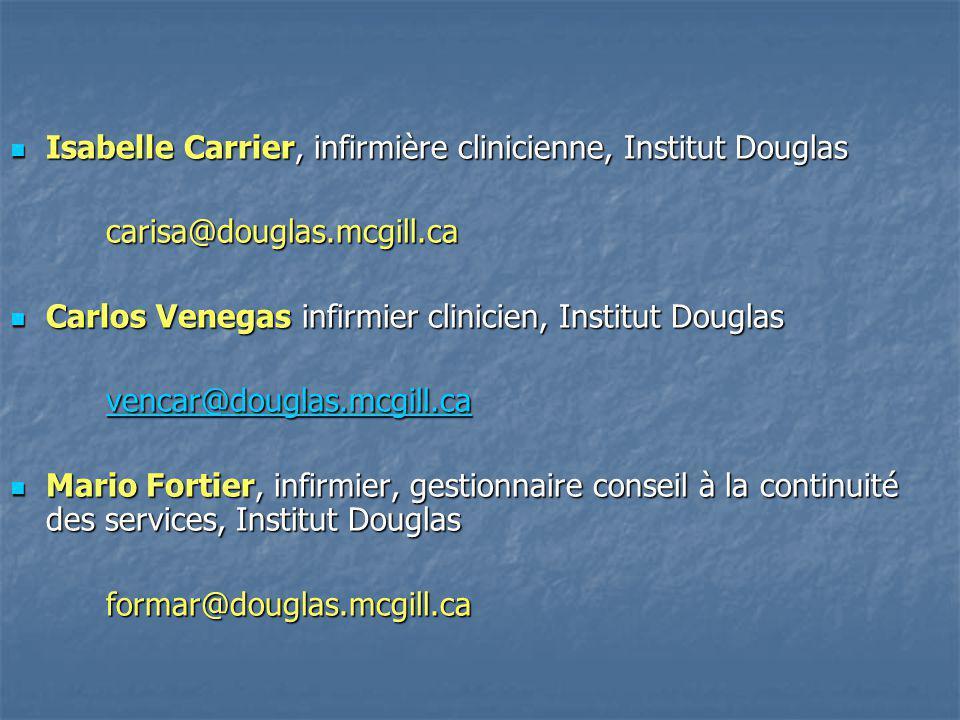Isabelle Carrier, infirmière clinicienne, Institut Douglas Isabelle Carrier, infirmière clinicienne, Institut Douglascarisa@douglas.mcgill.ca Carlos V