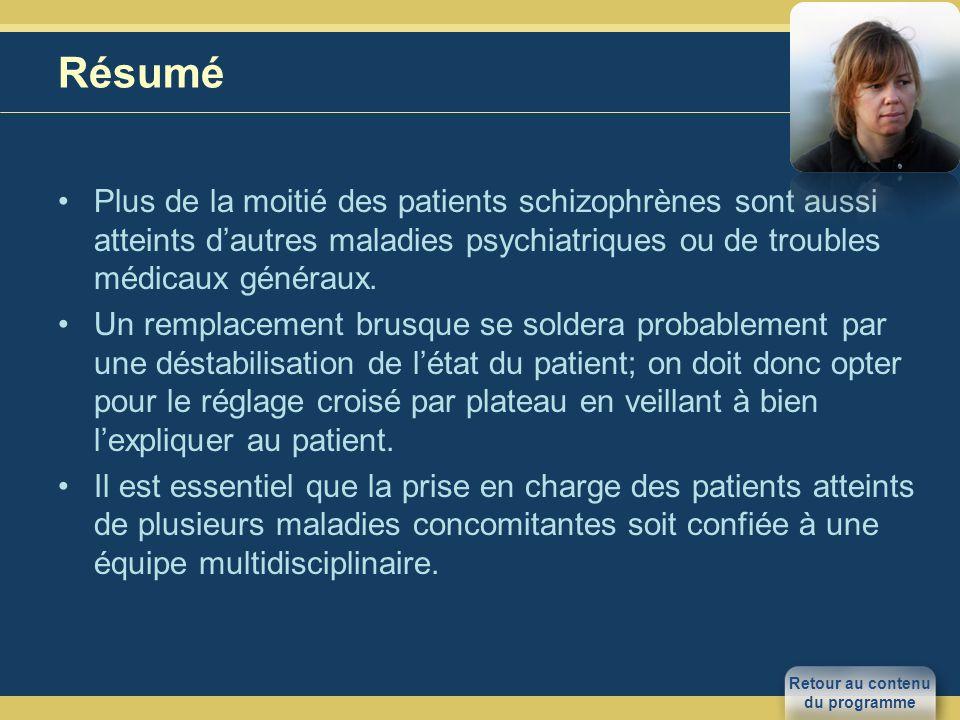 Résumé Plus de la moitié des patients schizophrènes sont aussi atteints dautres maladies psychiatriques ou de troubles médicaux généraux.