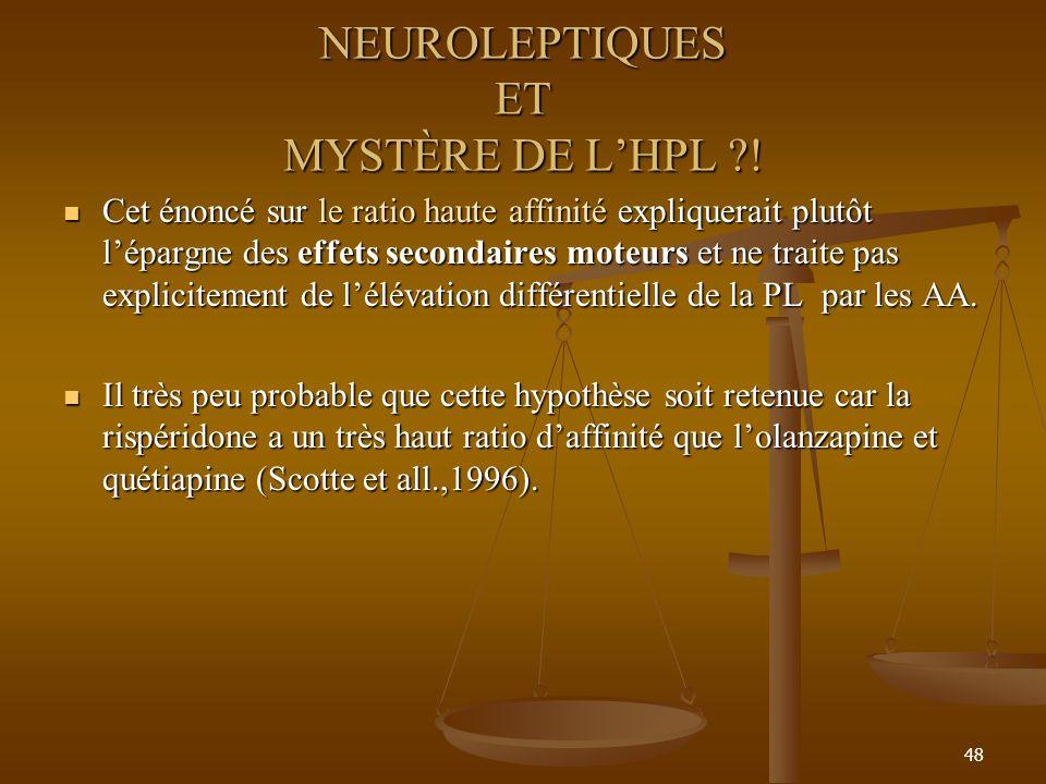 48 NEUROLEPTIQUES ET MYSTÈRE DE LHPL ?.