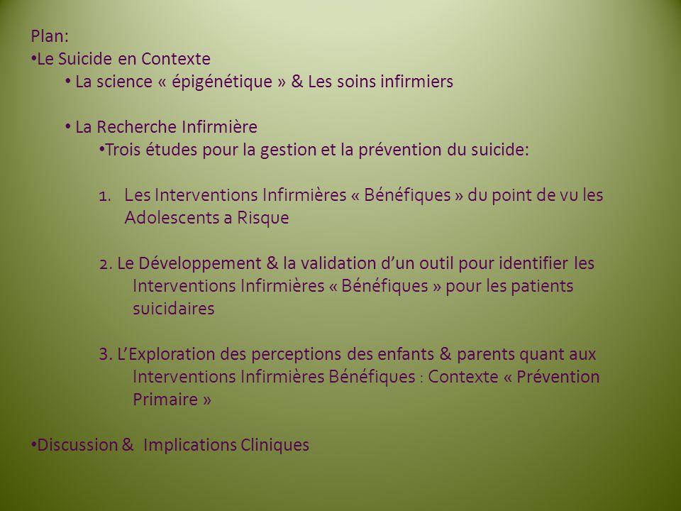 Remerciements Reseau québécois de recherche sur le suicide (RQRS) Dr.Gustavo Turecki; Dr.