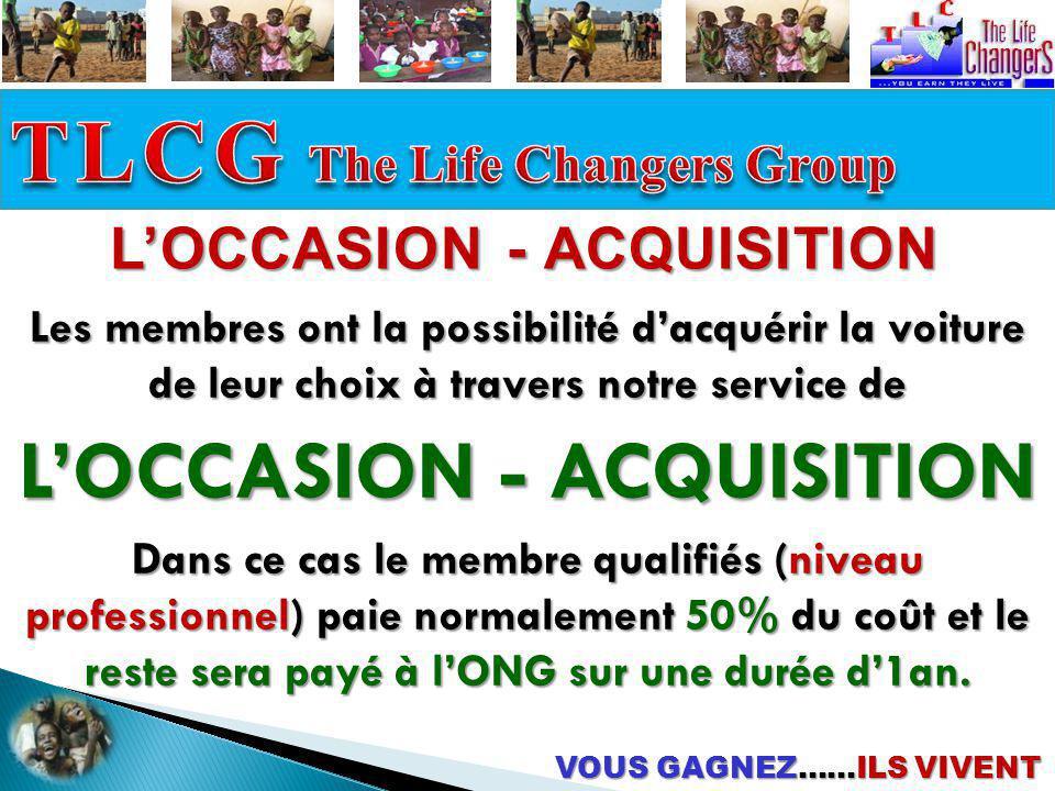 VOUS GAGNEZ……ILS VIVENT LOCCASION - ACQUISITION Les membres ont la possibilité dacquérir la voiture de leur choix à travers notre service de LOCCASION