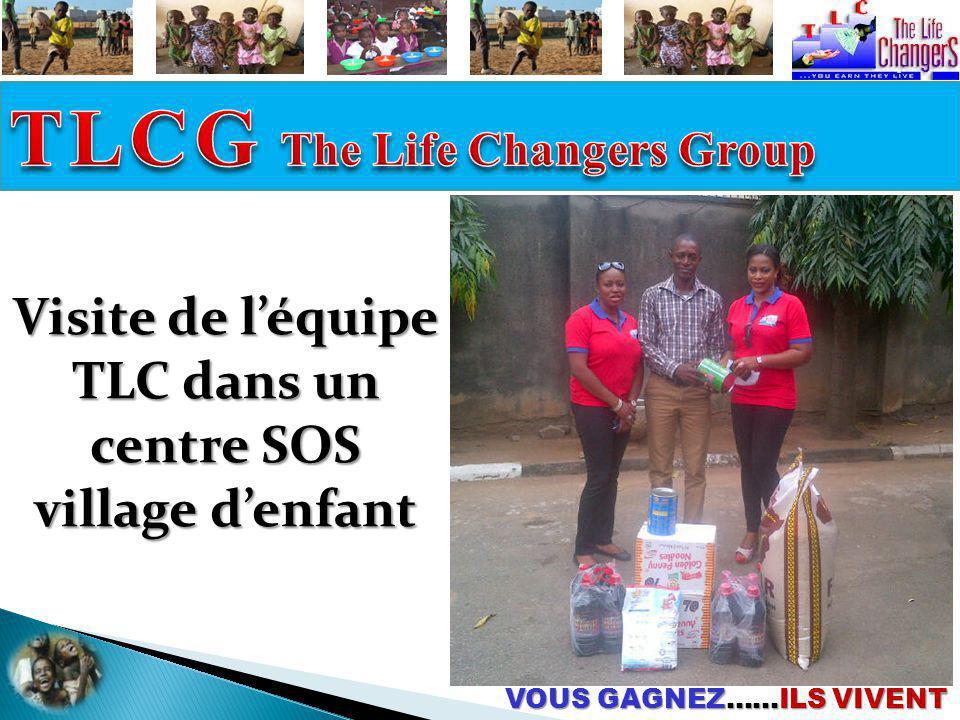 VOUS GAGNEZ……ILS VIVENT Visite de léquipe TLC dans un centre SOS village denfant