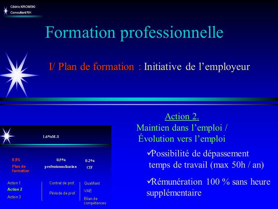 Cédric KROMSKI Consultant RH Possibilité de dépassement temps de travail (max 50h / an) Rémunération 100 % sans heure supplémentaire Formation profess