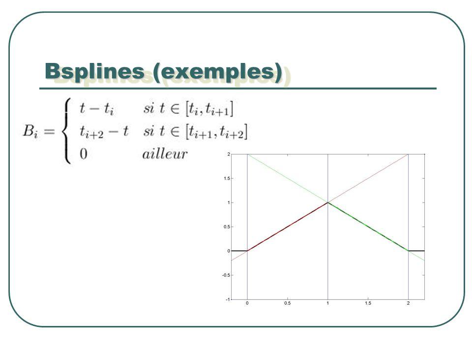 Bsplines (exemples)