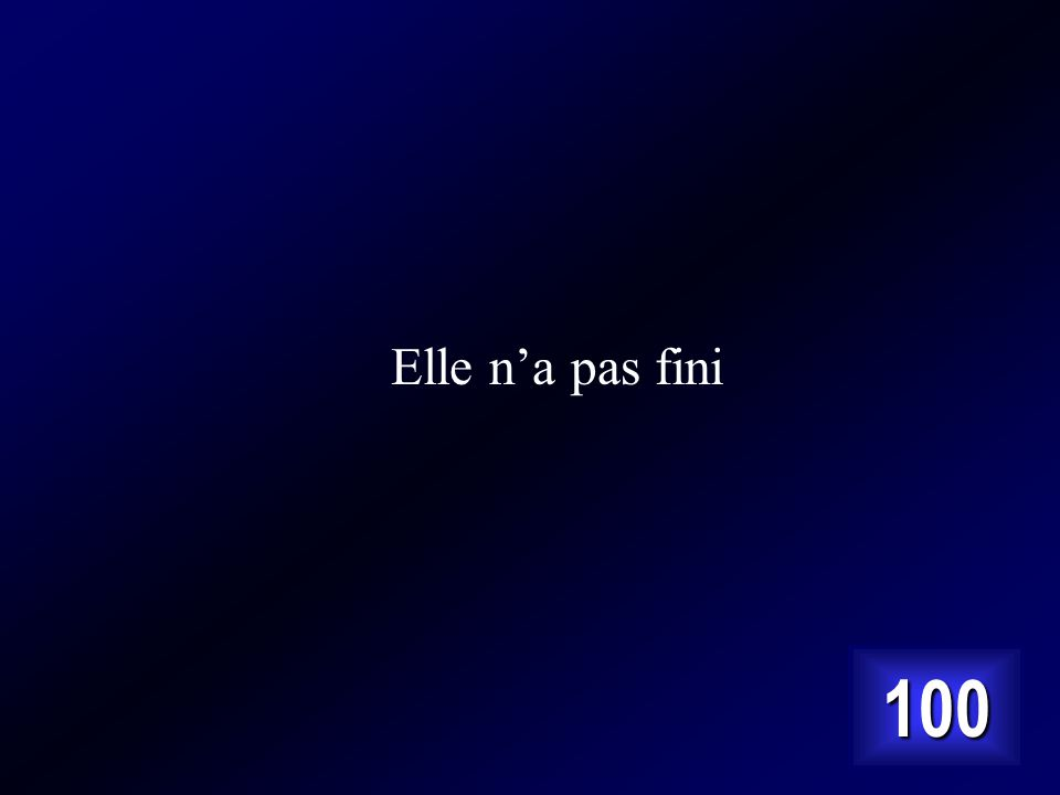 Answer… Cest elle na point fini en français normal