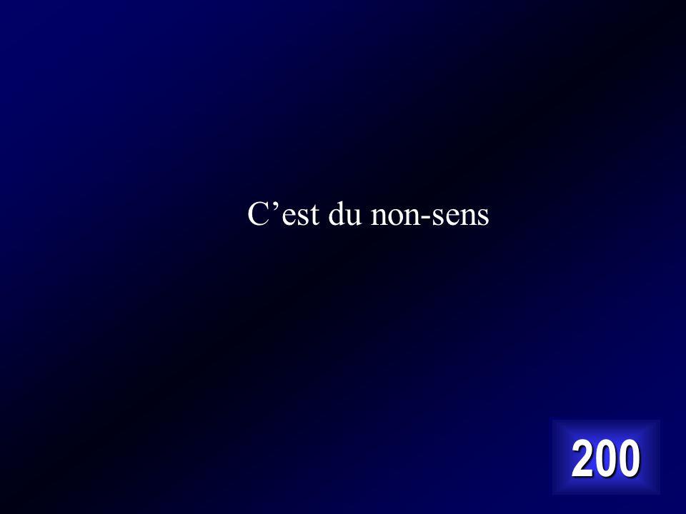 Answer… Cest ce sont des bagatelles en français normal