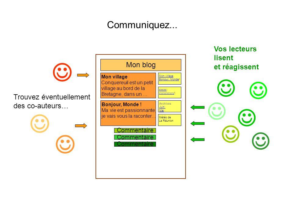 Communiquez... Mon blog Bonjour, Monde .
