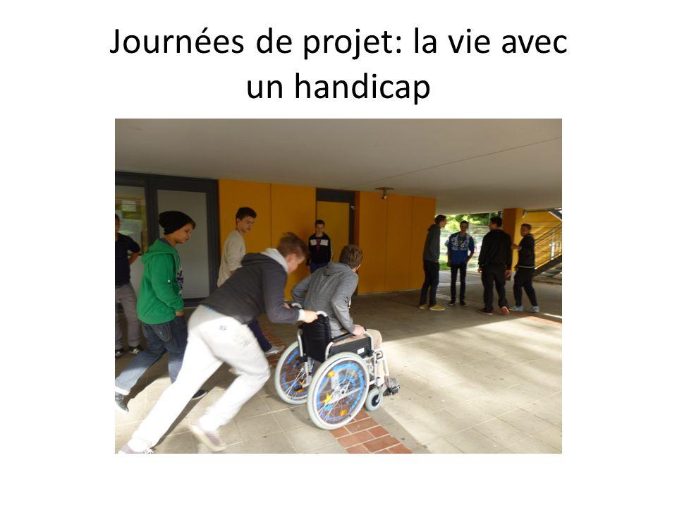 Journées de projet: la vie avec un handicap