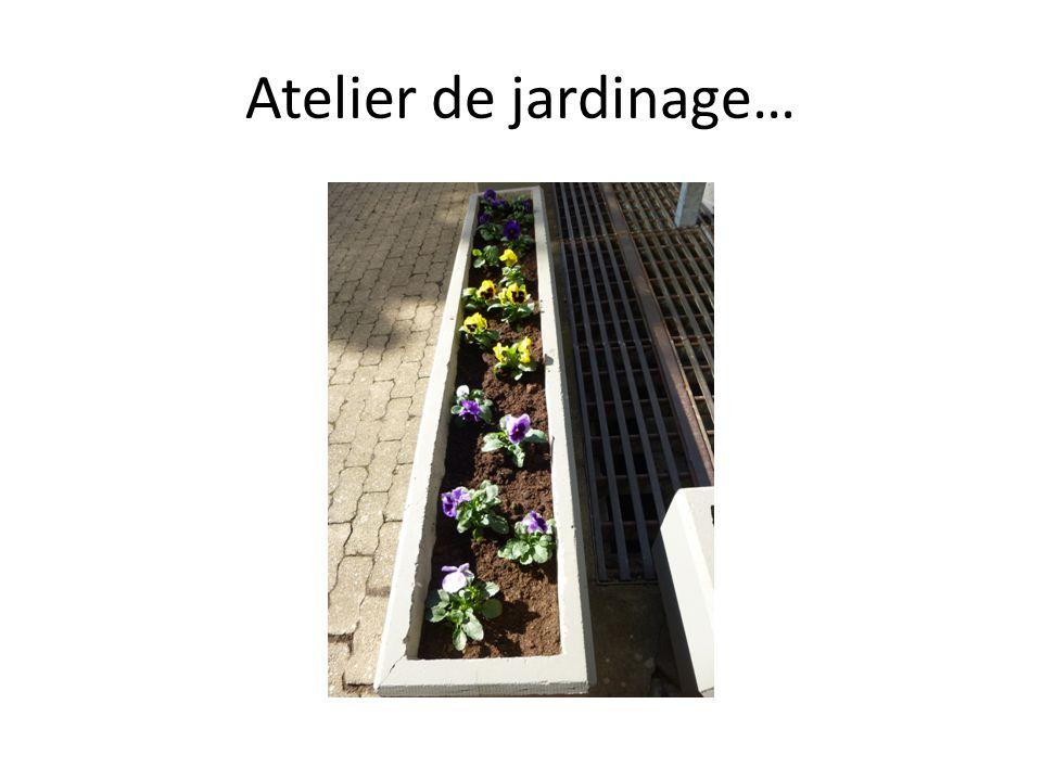 Atelier de jardinage…