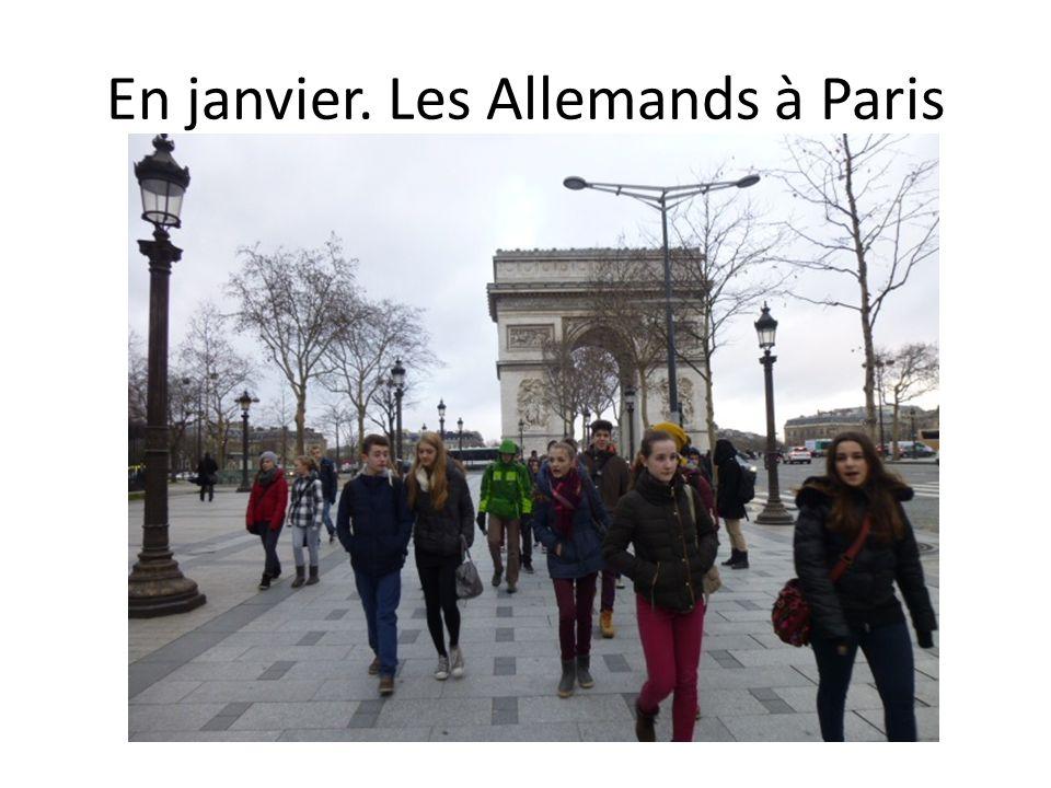 En janvier. Les Allemands à Paris