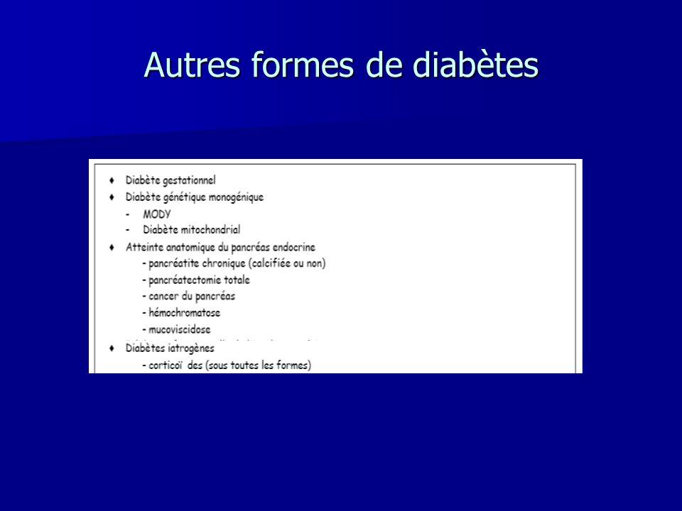 Autres formes de diabètes