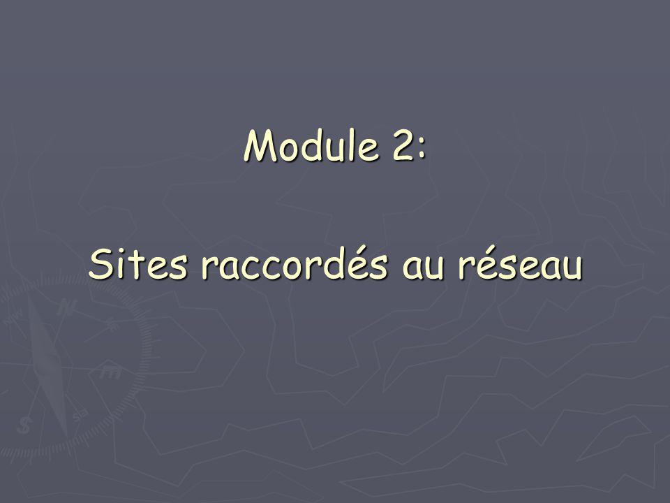 Module 2: Sites raccordés au réseau