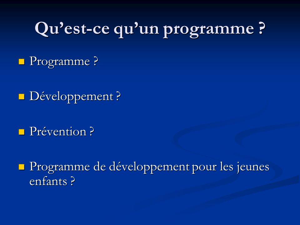 Quest-ce quun programme . Programme . Programme .