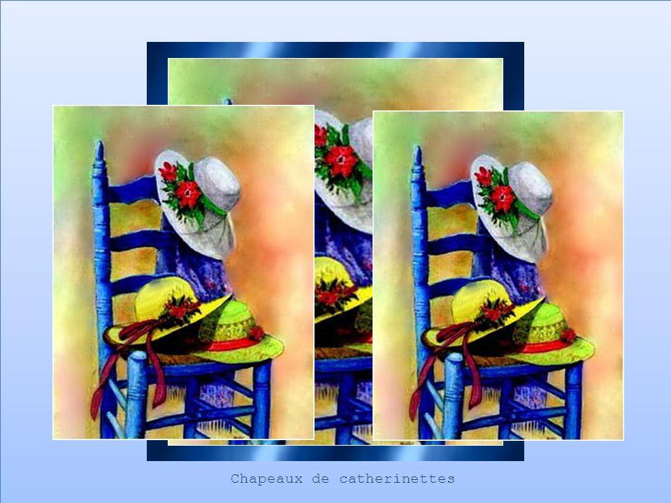Le jour de la Sainte Catherine, lon préparait toutes sortes de mets spéciaux: des gâteaux en forme de chapeaux, du vin appelé Catherinette sans oublier la délicieuse tire à la mélasse fabriquée avec soin…… A tous «Joyeuse Sainte-Catherine »