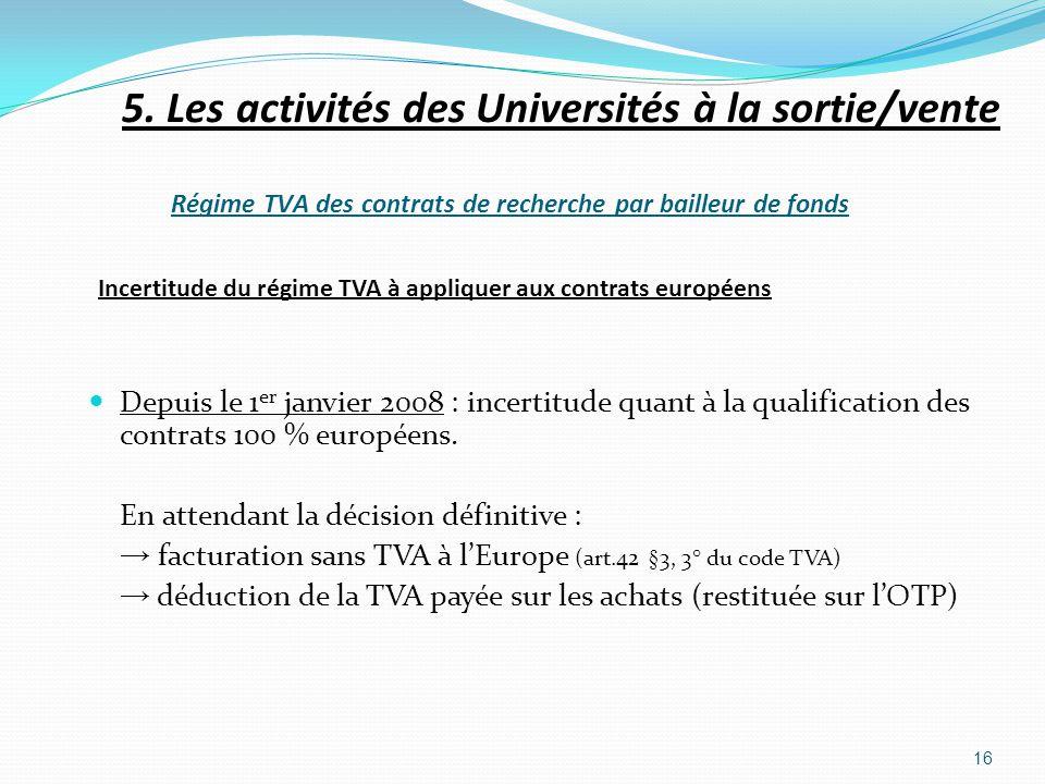 Incertitude du régime TVA à appliquer aux contrats européens Depuis le 1 er janvier 2008 : incertitude quant à la qualification des contrats 100 % eur