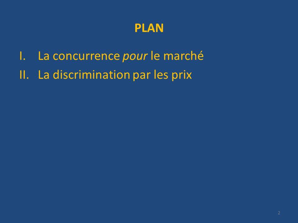 PLAN I.La concurrence pour le marché II.La discrimination par les prix 2