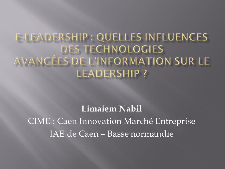 Limaiem Nabil CIME : Caen Innovation Marché Entreprise IAE de Caen – Basse normandie