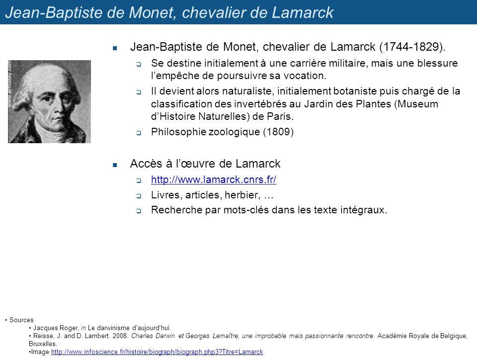 Sources Jacques Roger, in Le darwinisme d'aujourd'hui. Reisse, J. and D. Lambert. 2008. Charles Darwin et Georges Lemaître, une improbable mais passio
