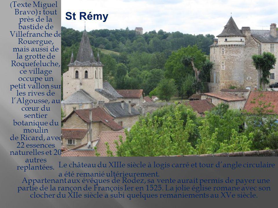Situé en surplomb de l Aveyron, ce village a su préserver son caractère médiéval à travers les vestiges de ses fortifications, mais aussi en conservant de très belles maisons dont certaines du XVIe siècle sont enrichies d encorbellements ou de colombages.
