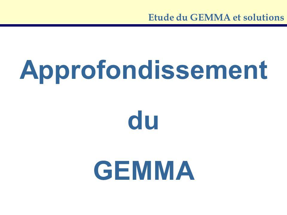 Etude du GEMMA et solutions Approfondissement du GEMMA
