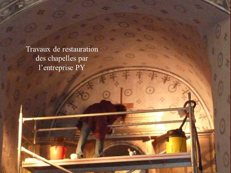 Travaux de restauration des chapelles par lentreprise PY
