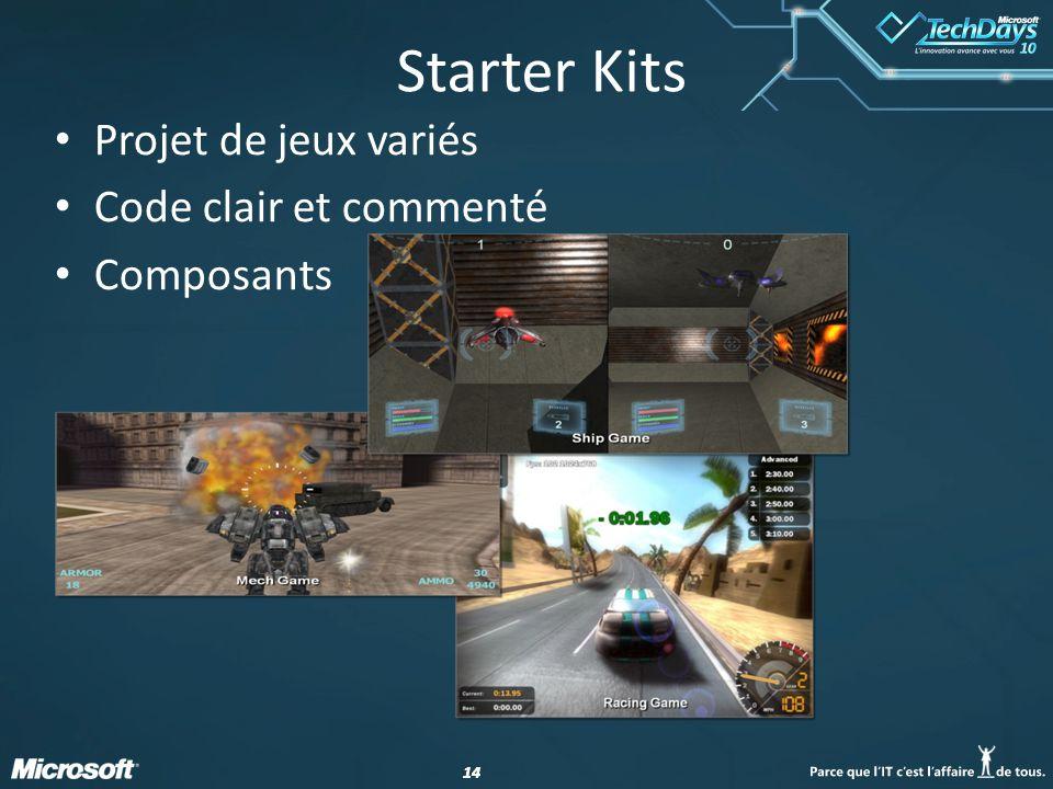 14 Starter Kits Projet de jeux variés Code clair et commenté Composants