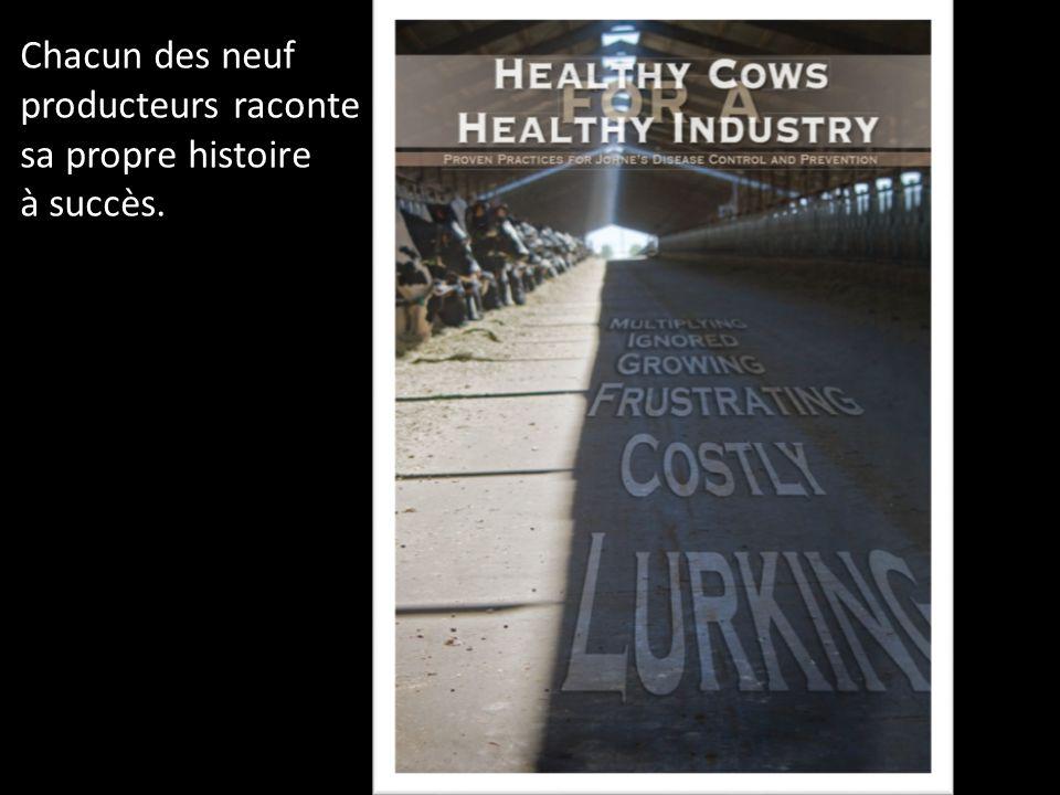 Avant et après le programme de lutte 104/1012 (10,6 %) 50/1586 (3,2 %) Significatif; p<0,001 Tous troupeaux combinés : vaches de 1 re lactation seulement AvantAprès % de positifs Au 1 er janvier 2007