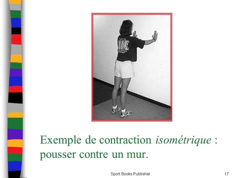 Sport Books Publisher17 Exemple de contraction isométrique : pousser contre un mur.