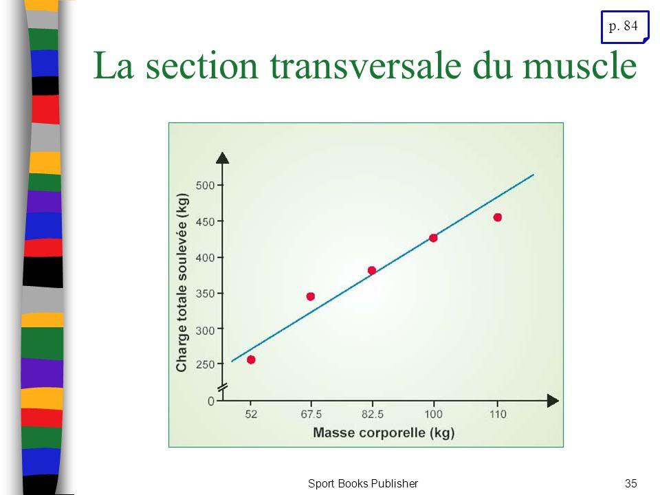 Sport Books Publisher35 La section transversale du muscle p. 84
