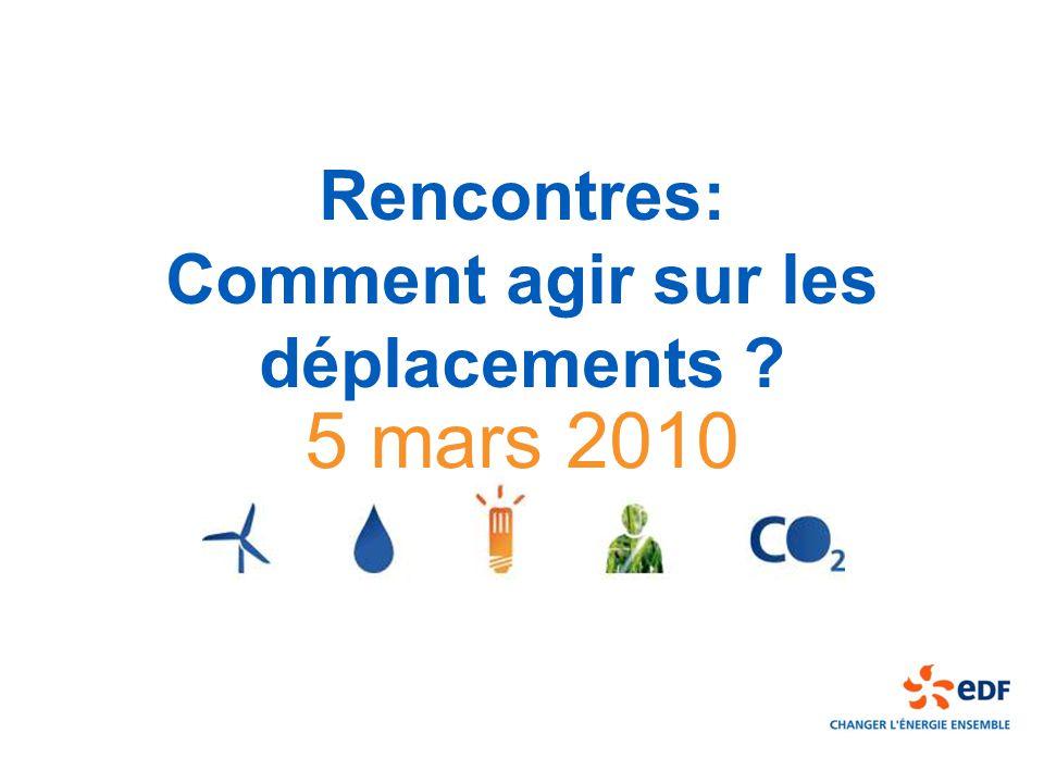 Rencontres: Comment agir sur les déplacements 5 mars 2010