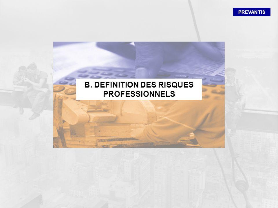 PREVANTIS B. DEFINITION DES RISQUES PROFESSIONNELS