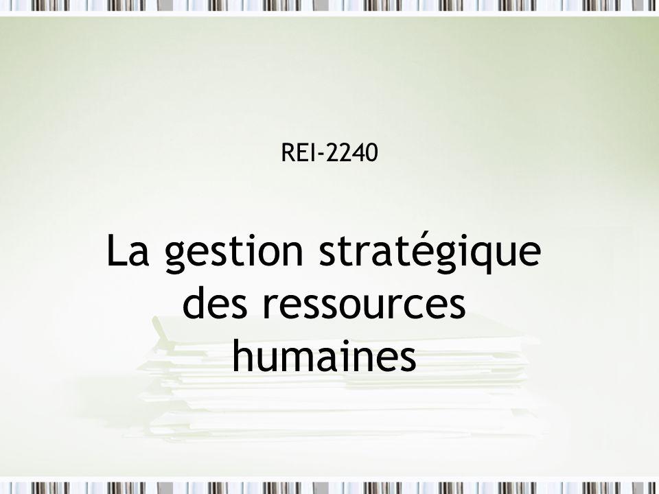 REI-2240 La gestion stratégique des ressources humaines