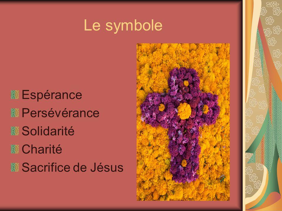 Le symbole Espérance Persévérance Solidarité Charité Sacrifice de Jésus