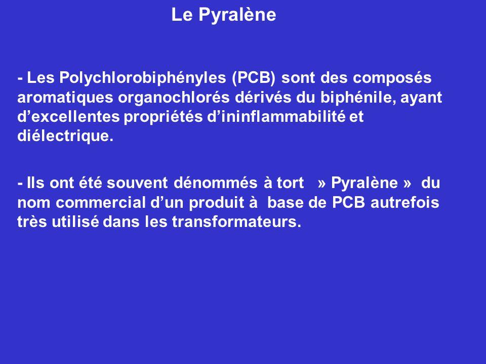 - Les Polychlorobiphényles (PCB) sont des composés aromatiques organochlorés dérivés du biphénile, ayant dexcellentes propriétés dininflammabilité et diélectrique.