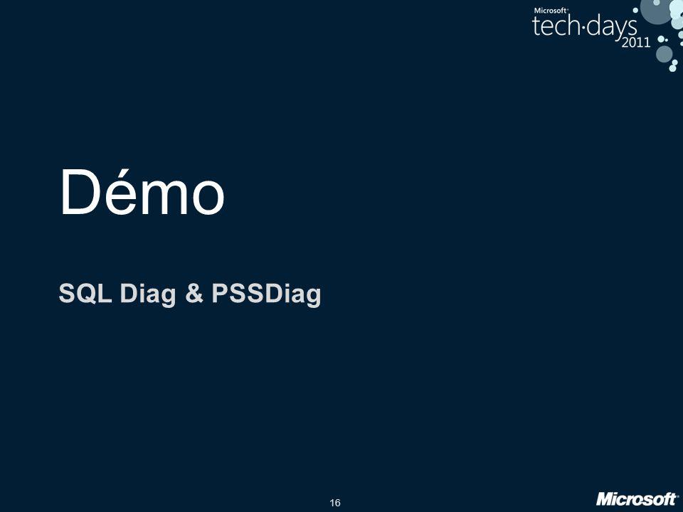 16 Démo SQL Diag & PSSDiag